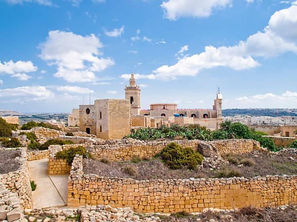 Blick auf die Kathedrale in Rabat, Gozo – Foto
