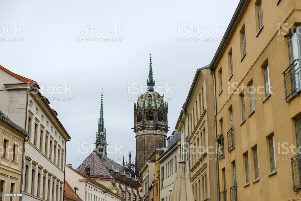 View Of The Cathedral Of All Saints In Lutherstadt