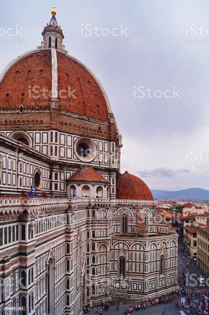 View of the cathedral of Florence stock photo