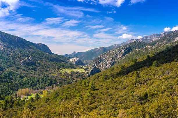 View of the Cazorla Mountains stock photo