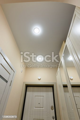 istock View of the ceiling in a small hallway apartment 1208000973