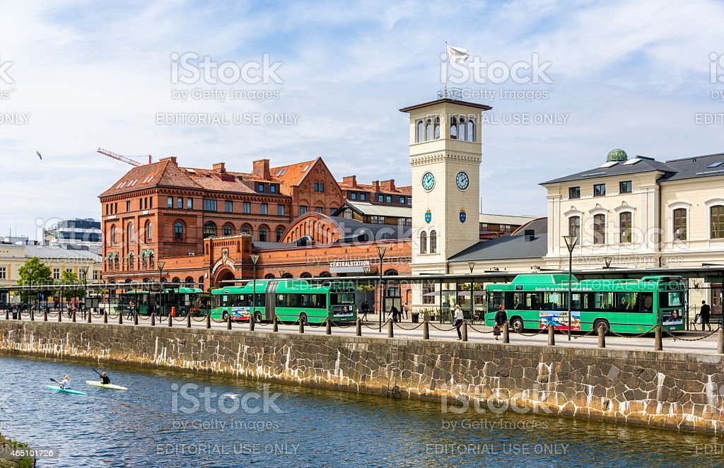 View of the Central Railway Station of Malmo stock photo