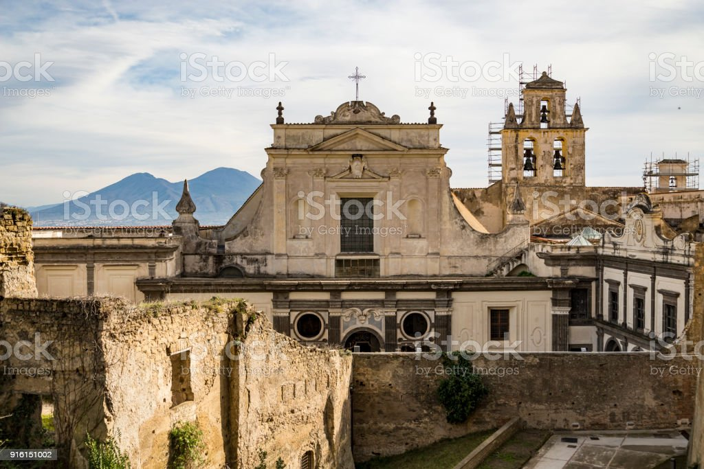 View of the Certosa di San Martino in Naples, Italy stock photo