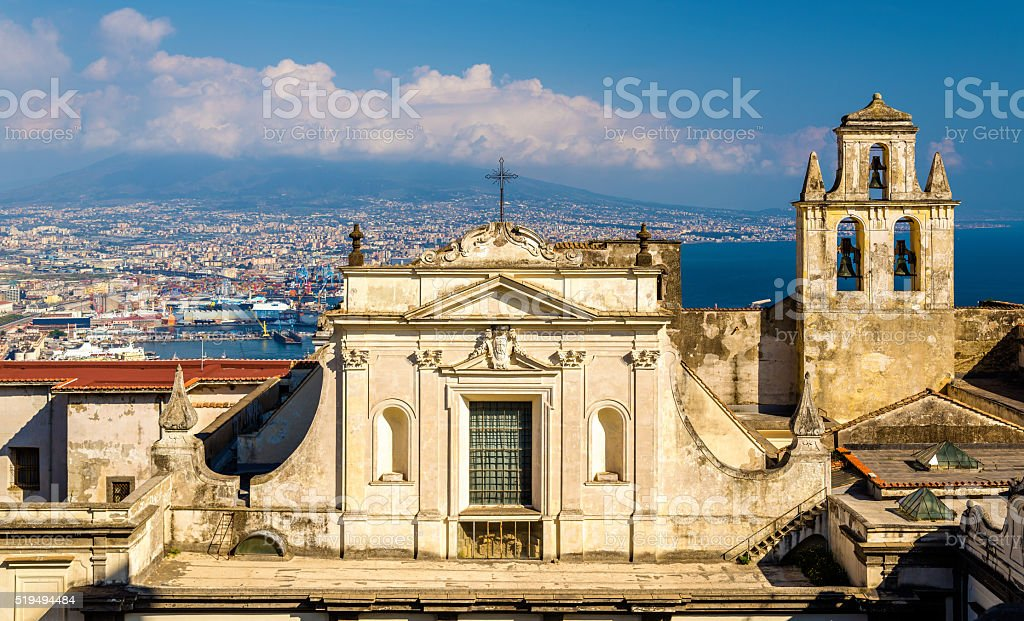 View of the Certosa di San Martino in Naples stock photo