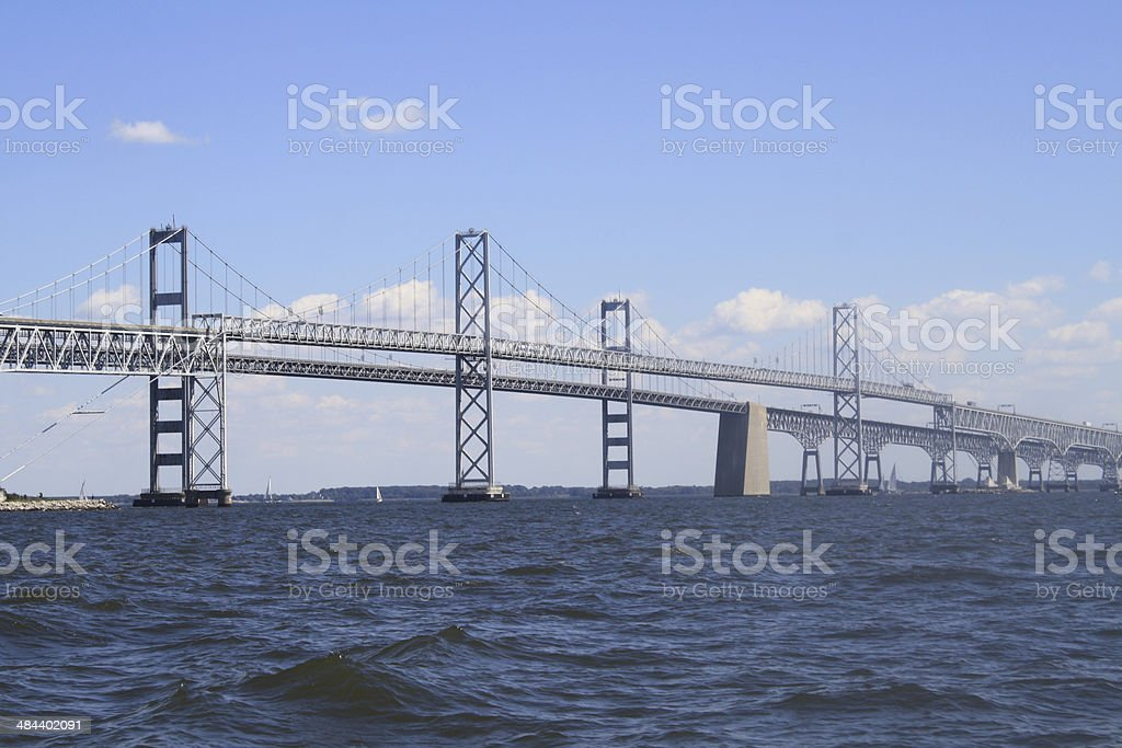 View of the Chesapeake Bay Bridge stock photo