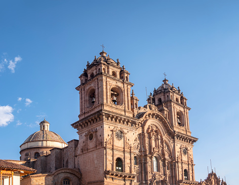 View Of The Church of the Society of Jesus (Iglesia De La Compañia De Jesús) In Cuzco, Peru