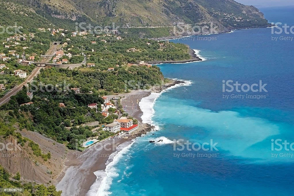 View of the Cilento coast, Italy stock photo