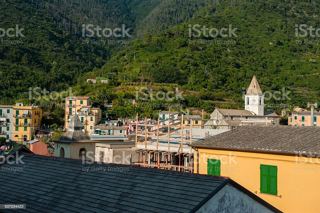 View of the Cinque Terre park, Italy stock photo