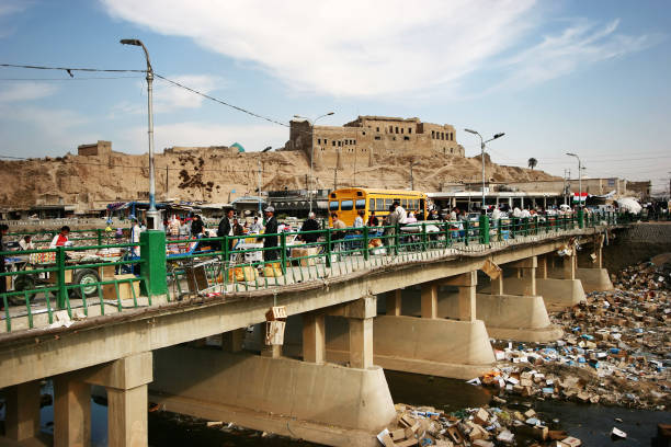 Une vue de la citadelle dans la ville de Kirkouk - Photo