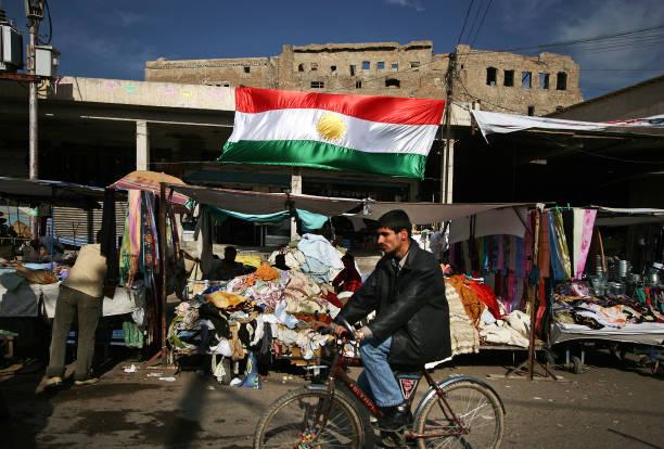 Une vue de la citadelle dans la ville de Kirkouk. - Photo