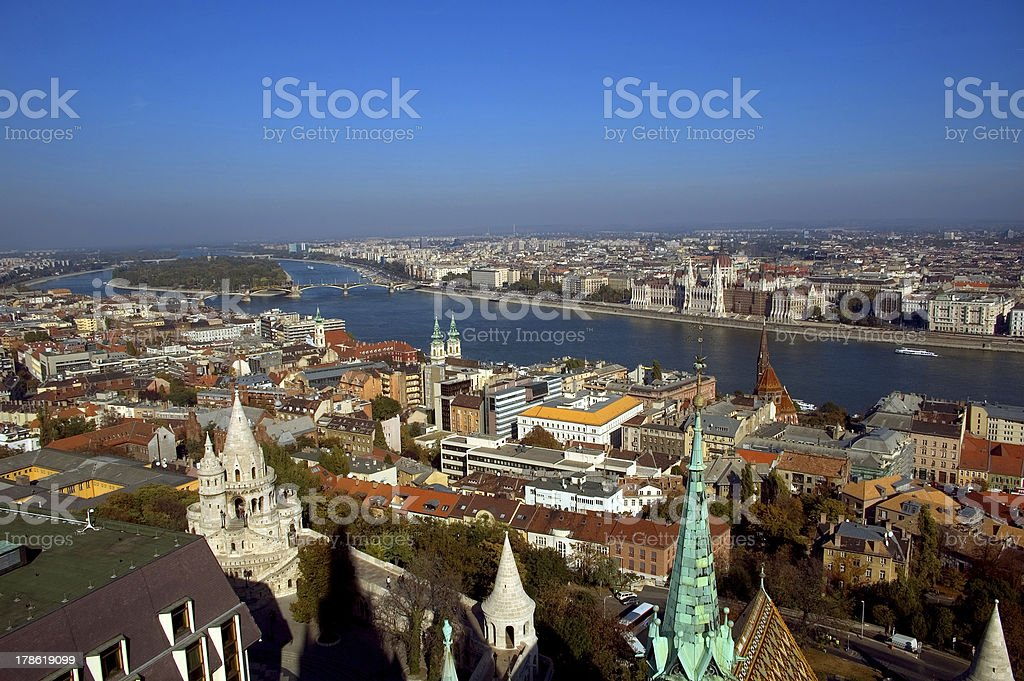 View of the city, Budapest, Hungary royalty-free stock photo