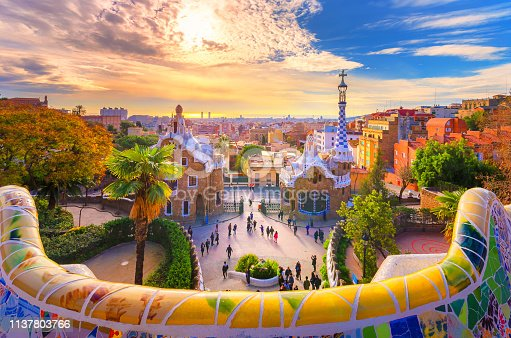 istock View of the city from Park Guell in Barcelona, Spain 1137803766