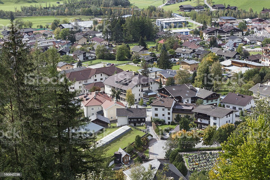 View of the city Matrei stock photo