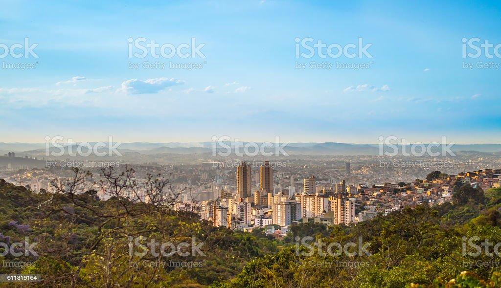 Vista da cidade de Belo Horizonte, Minas Gerais, Brasil stock photo