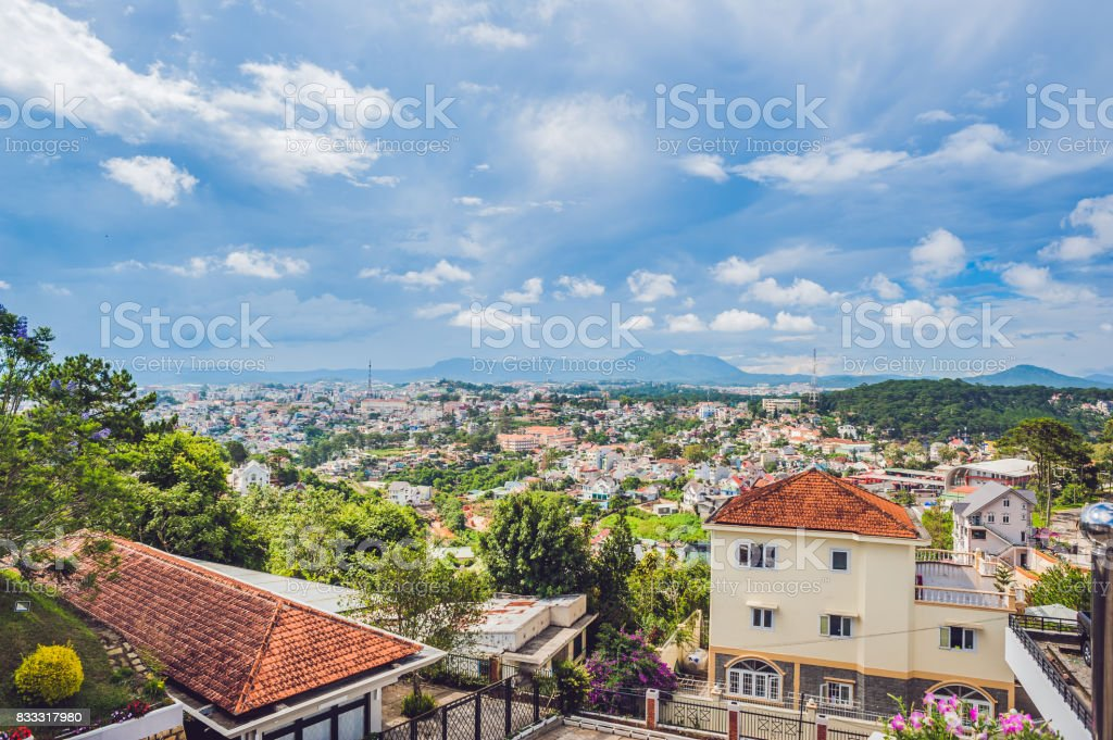 View of the city of Dalat, Vietnam. Journey through Asia concept royalty-free stock photo