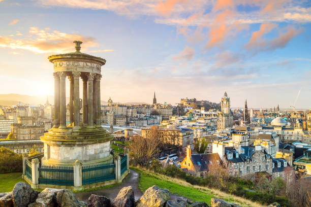 Vista da cidade de Edimburgo - foto de acervo