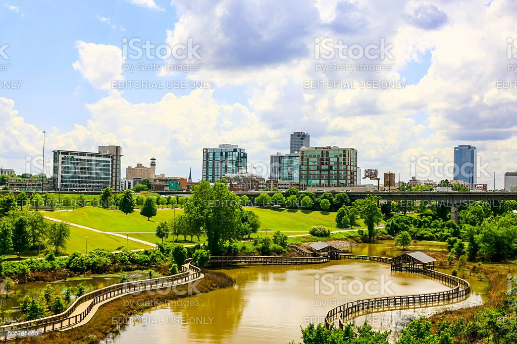 View of the City of Little Rock, Arkansas stock photo