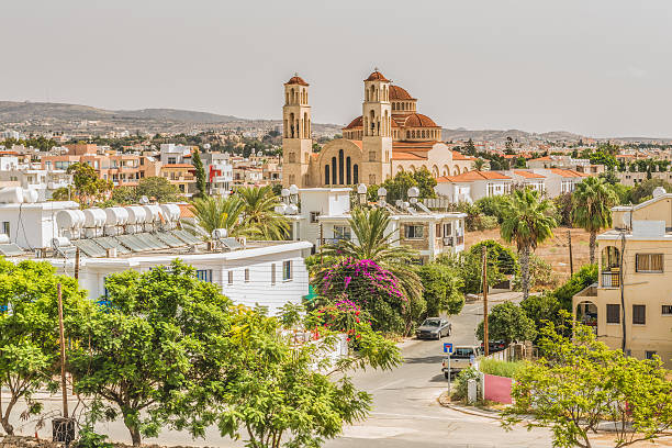 View of the city of Paphos, Cyprus. - Photo