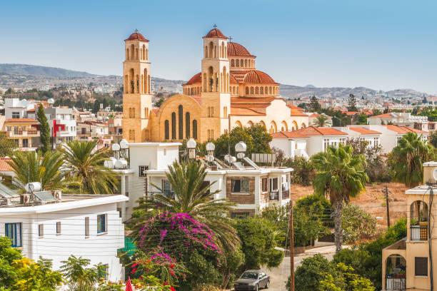 view of the city of paphos, cyprus. - cyprus стоковые фото и изображения