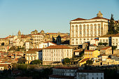 istock View of the city of Porto at sunrise with the historical house facades since Luis I bridge lookout. 1250240896