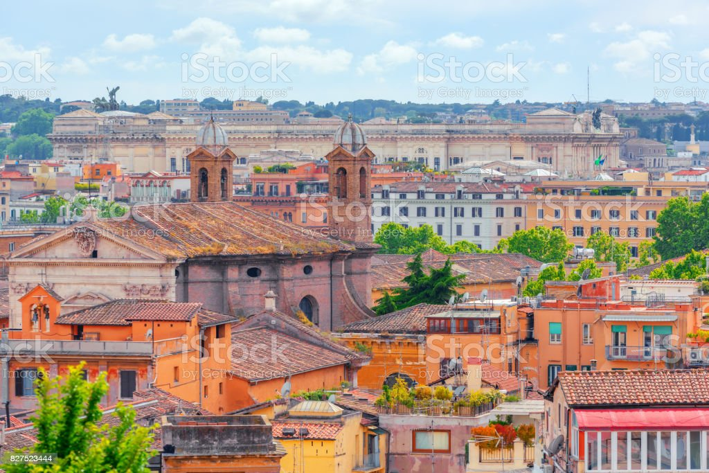 View Of The City Of Rome From Above From The Hill Of Terrazza Del Pincio Stock Photo Download Image Now