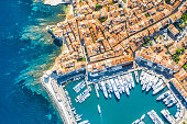 View of the city of Saint-Tropez, Provence, Cote d'Azur