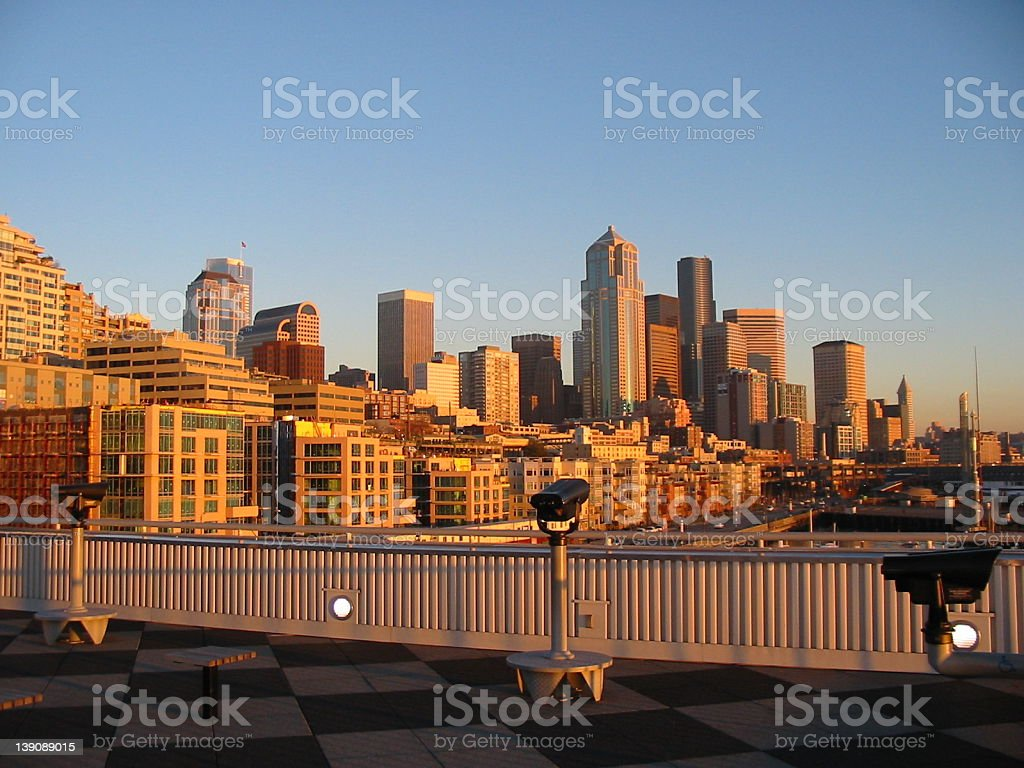 A View of the City of the Future royalty-free stock photo