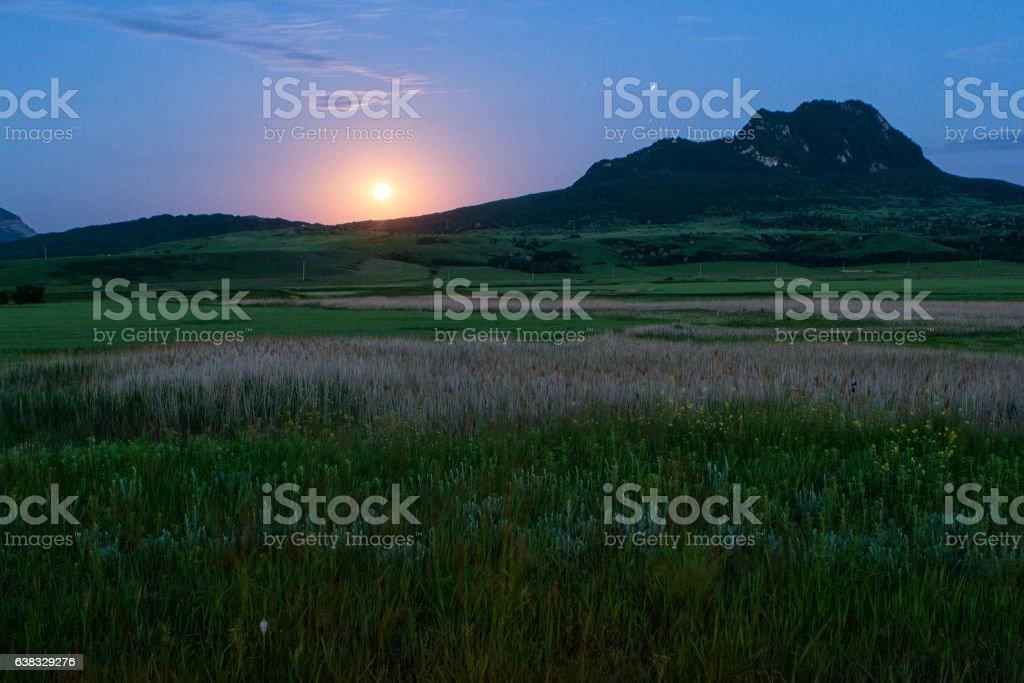 View of the city of Zheleznovodsk from Mount Beshtau stock photo