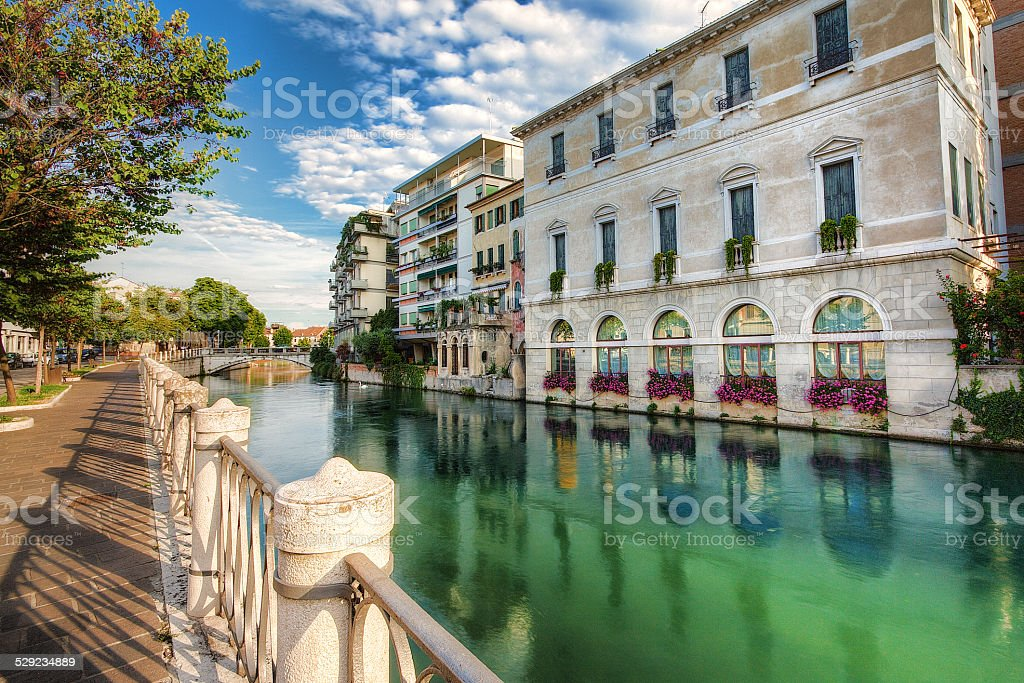View of the city Treviso stock photo