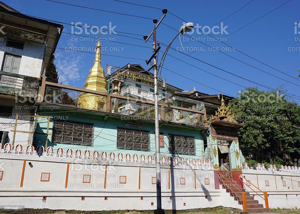 View of the city Yangon, Myanmar stock photo
