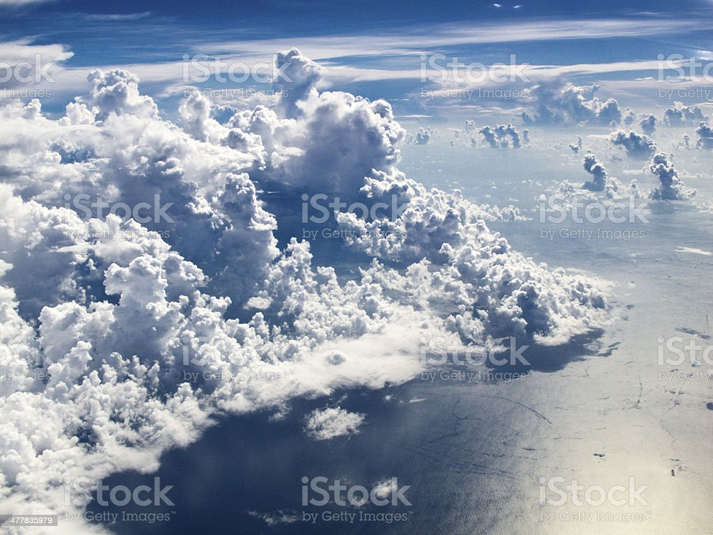 View of the clouds from above royalty-free stock photo