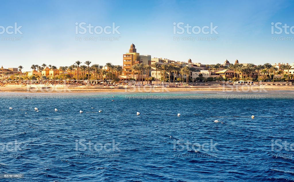 View of the coast of Africa in Egypt stock photo