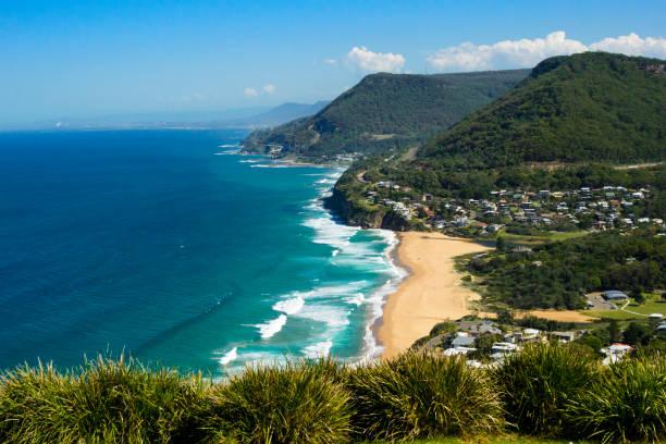 뉴 사우스 웨일즈, 호주의 해안선의 보기 - 태즈먼 해 뉴스 사진 이미지