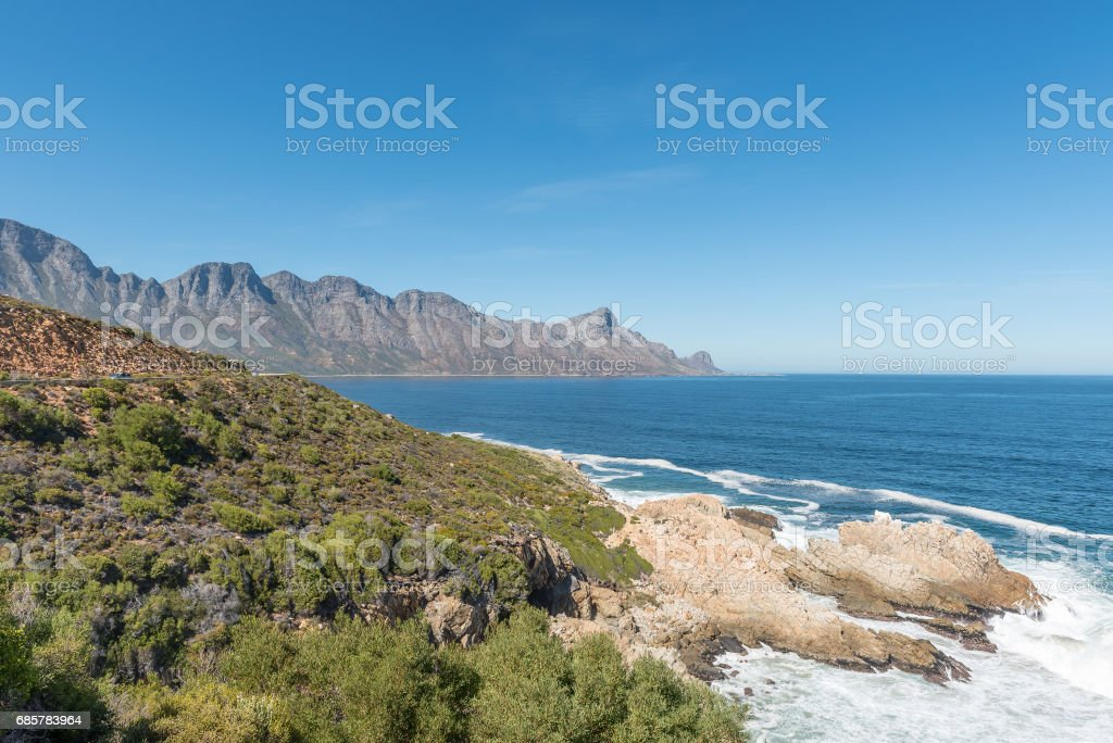 View of the coastline on Clarence Drive royalty-free stock photo