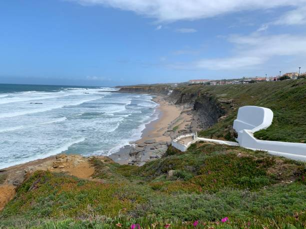 View of the coastline stock photo