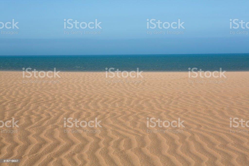 View of the Colombian coastline in La Guajira stock photo