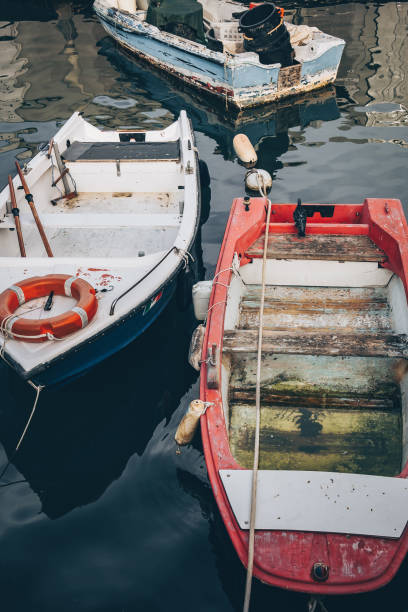View of the colorful fishing boats at Marsaxlokk in Malta – zdjęcie
