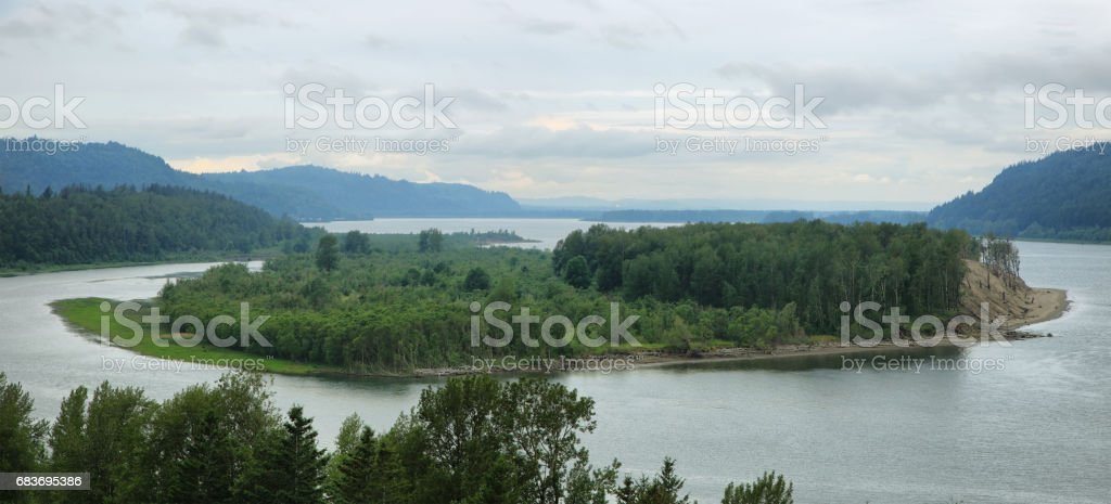 View of the Columbia River Gorge stock photo