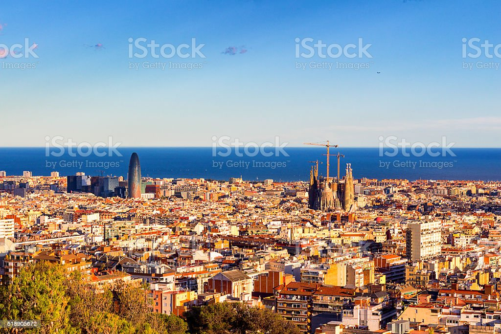View of the construction Sagrada Familia, Barcelona stock photo