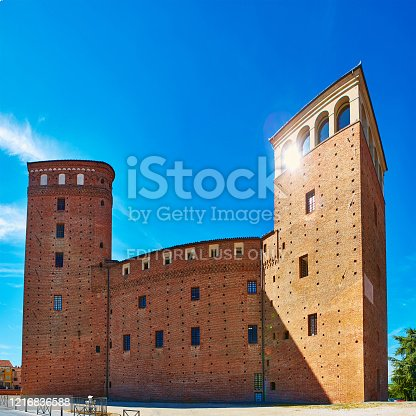 istock View of the courtyard of the Castle Principles of Acaja in Fossano 1216836588