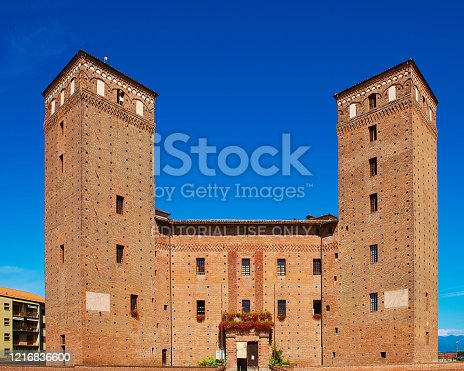 istock View of the courtyard of the Castle Principles of Acaja in Fossano 1216836600
