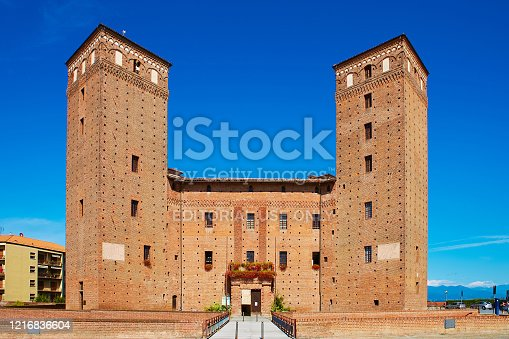 istock View of the courtyard of the Castle Principles of Acaja in Fossano 1216836604