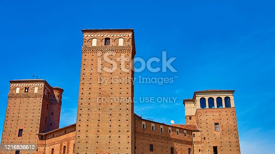 istock View of the courtyard of the Castle Principles of Acaja in Fossano 1216836612
