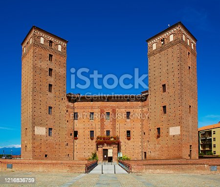 istock View of the courtyard of the Castle Principles of Acaja in Fossano 1216836759
