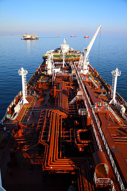 view of the deck tanker view of the deck tanker anchor athlete stock pictures, royalty-free photos & images