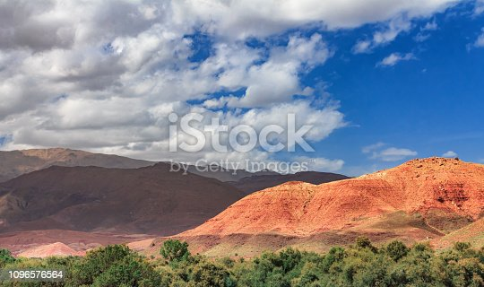 istock View of the desolating valley Ounila River. Beautiful Northern African Landscape . Fascinating view from the hill to the valley in Morocco 1096576564
