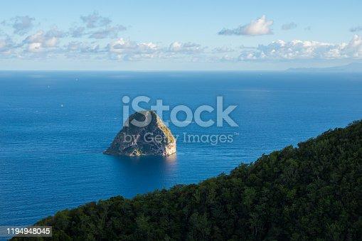 istock View of the diamond rock coastline in Martinique 1194948045