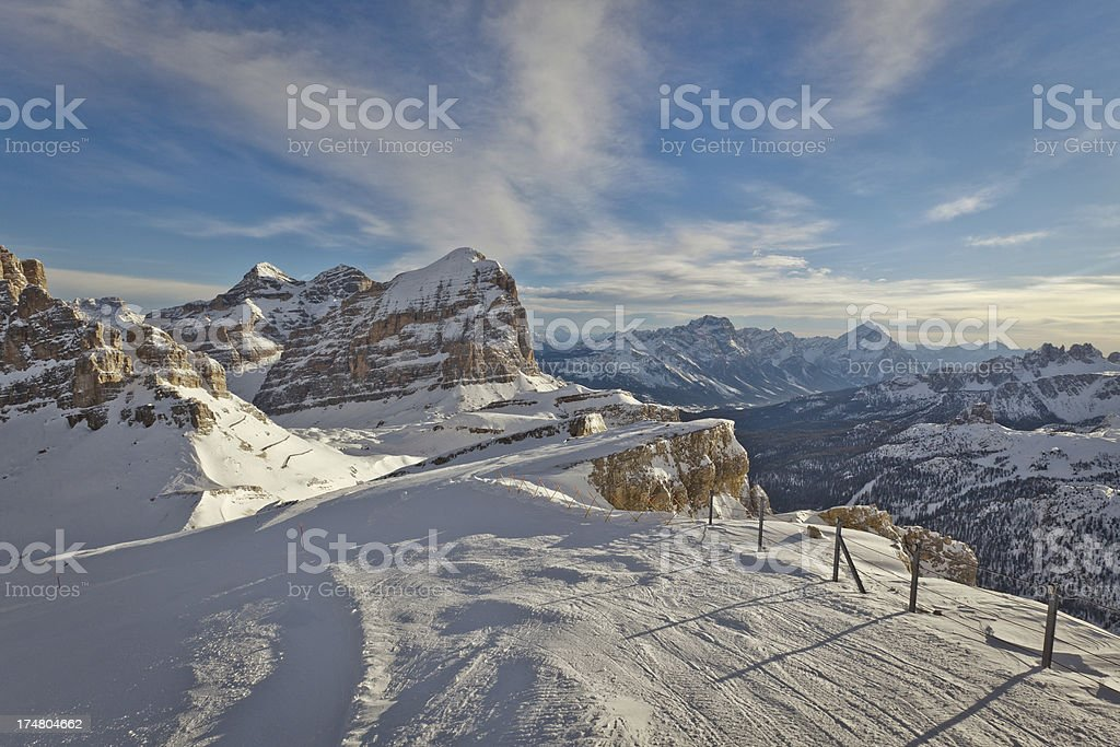 View of the Dolomites at Cortina d'Ampezzo royalty-free stock photo