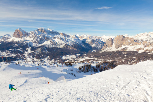 View of the Dolomites at Cortina d'Ampezzo
