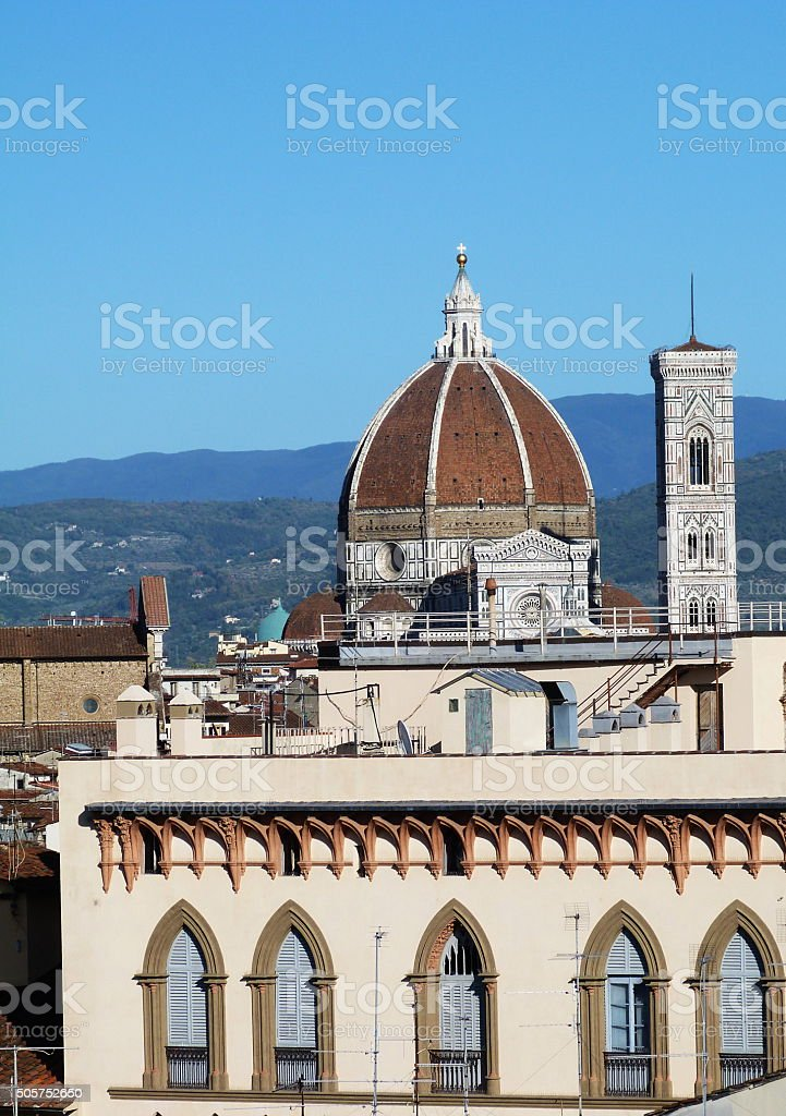 View of the Dome of the Cathedral, Florence stock photo